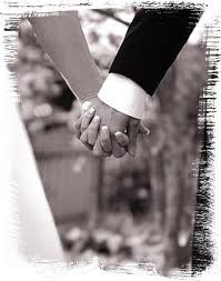 holding hands wedding