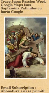 Jesus's Passion week google maps