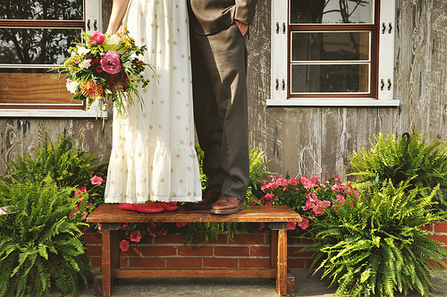 bride groom bench