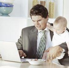 father multi tasking