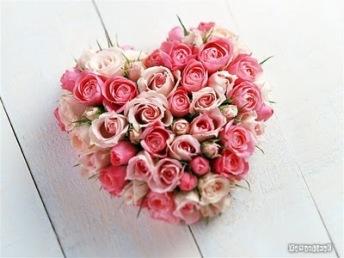 heart-flowers pink