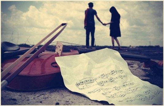 couple violin