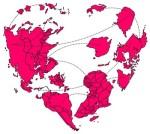 heart shaped world via Weird AwesomwAtuffs