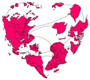 heart shaped world via Weird Awesomw Atuffs