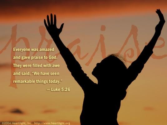 praise luke5_26