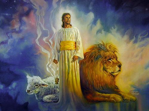 Jesus Lion lamb