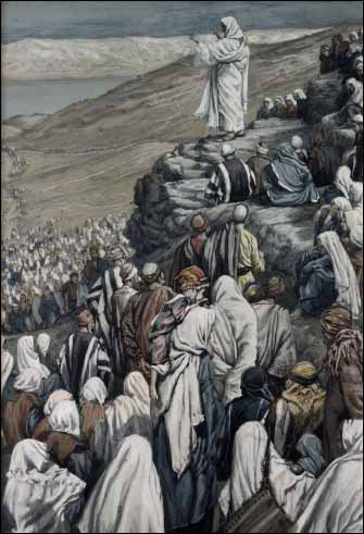 Jesus sermon on the mount tissot