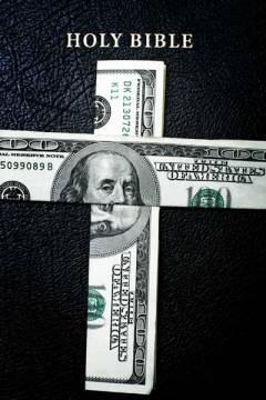 Bible money dollar bills