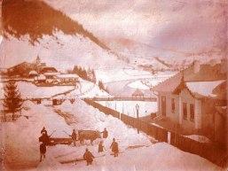 Romania Iarna la Borca jud. Neamt in anul 1900