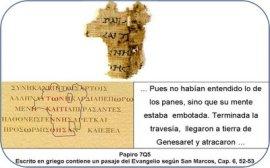 Mark 6-52,53 papyrus fragment Dead Sea Scrolls