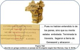 Mark 6-52,53 papyrus fragment Dead Sea Scrolls