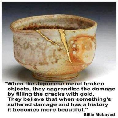 how Japanese mend broken objects
