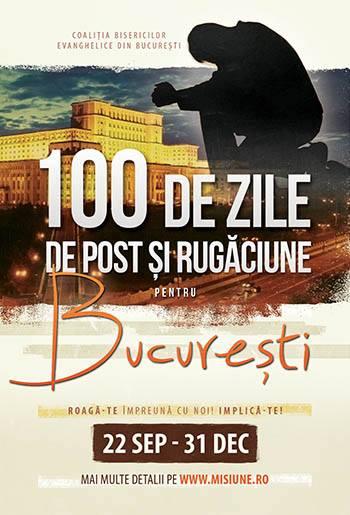 100 de zile rugaciune pentru Bucuresti