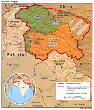 map_of_kashmir_rel_2003 northern India