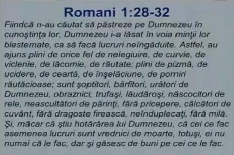 Romani 1 Dumnezeu i-a lasat in voia mintii Brie