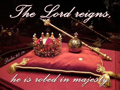 psalm 93v1a Jesus king