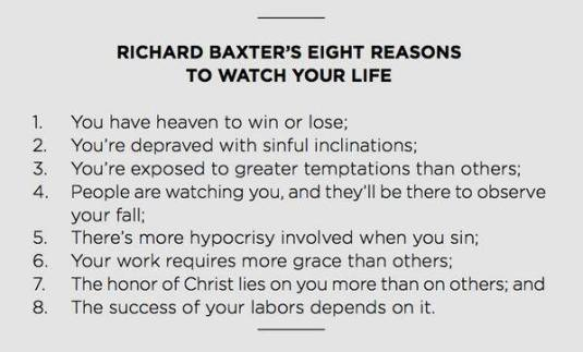 Richard Baxter 8 reasons