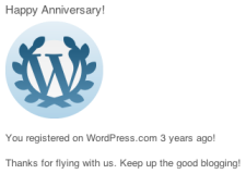 wordpress anniversary 3 years