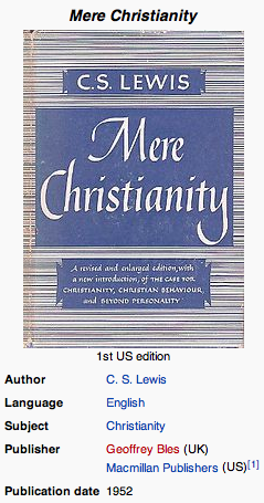 Mere Christianity 1st US edition wiki