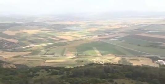 Valea Armagedonului de vede de pe muntele Carmel