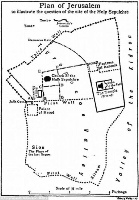 Ierusalim,harta,map,city plan,Jesus trial,judecat Isus