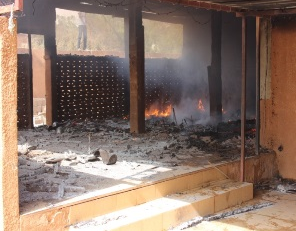 Biserica Betel din Niamey, incendiata 17 ianuarie. Photo World Watch Monitor