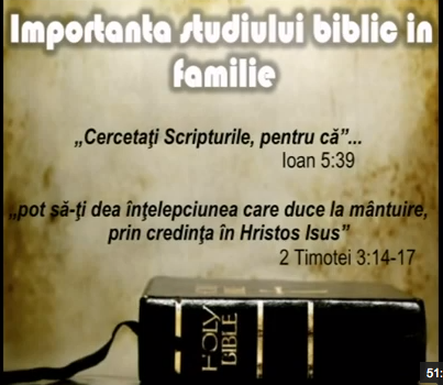 studiu Biblic in familie Bible Biblia