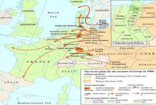 plan invaziune a Europei de Rusia in anii 80