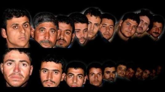 Cei 21 crestini Egipteni ostateci a ISIS in Libia, pozati dupa ce au fost rapiti. Photo
