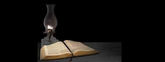 oil lamp Bible read