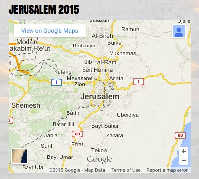 Jerusalem 2015 google map