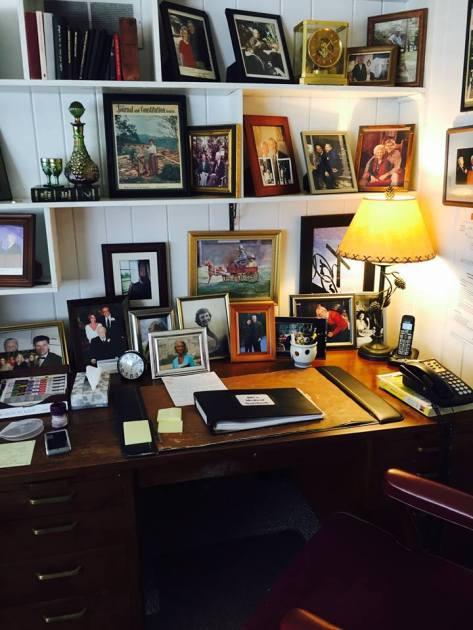 Billi Graham's desk, photo Franklin Graham