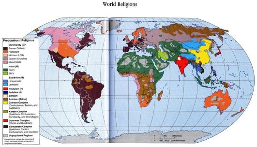 World Religion Map 2013 Photo via http://www.hdwalls.xyz/images/world-religion-map-2013