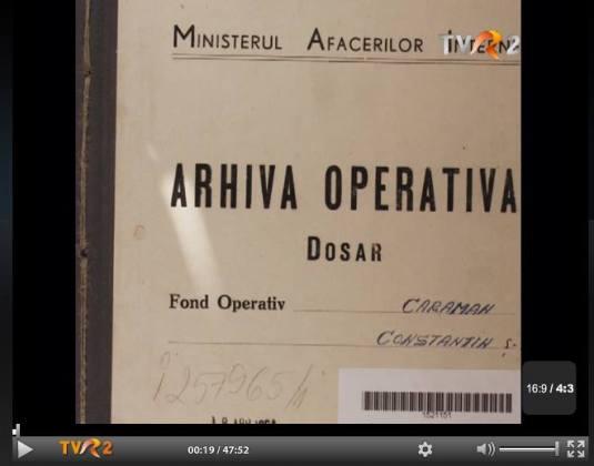 Emisiunea Memorialul Durerii Constantin Caraman CLIK POZA pentru VIDEO