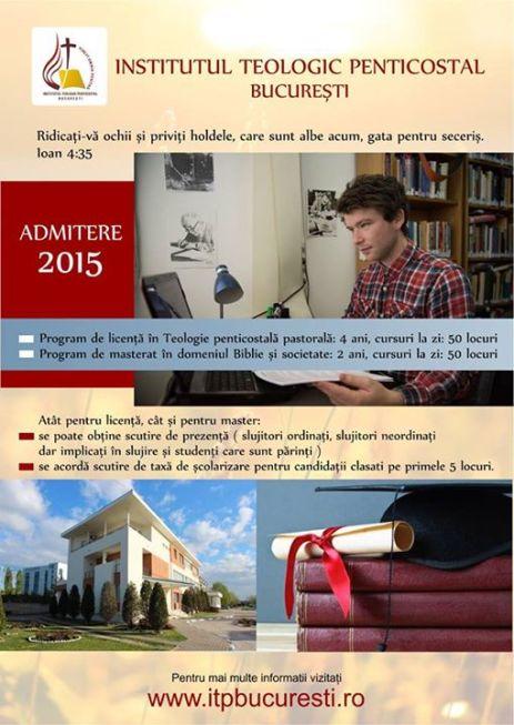 Admitere ITP 2015