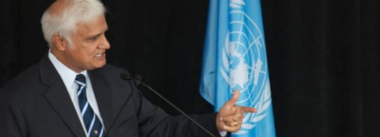 Ravi Zacharias at the UN Photo rzim.org