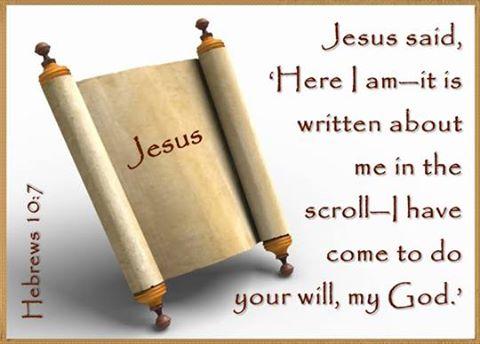 Jesus scroll Hebrews 10-7 prochecy