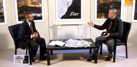 """Marius Cruceru cu Beni Faragau """"Intre Scriptura si Ziar"""" Photo captura CredoTV"""