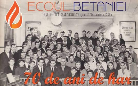 Biserica Betania Arad Buletinul Duminical aniversare 70 de ani 28 iunie 2015