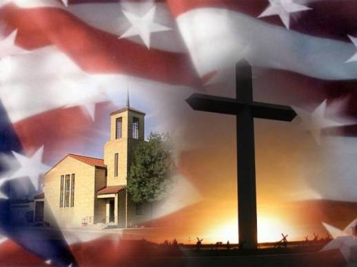 church,american flag,cross,america
