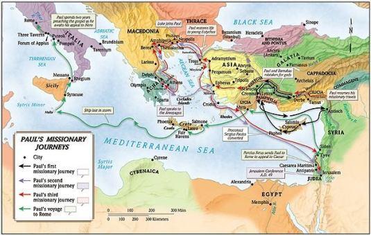 Calatoriile lui Pavel in Europa si Asia - Photo credit