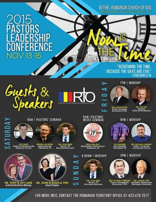 2015 Pastors Leadership Conference Gallatin,TN 2
