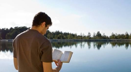 guy man reading BIble