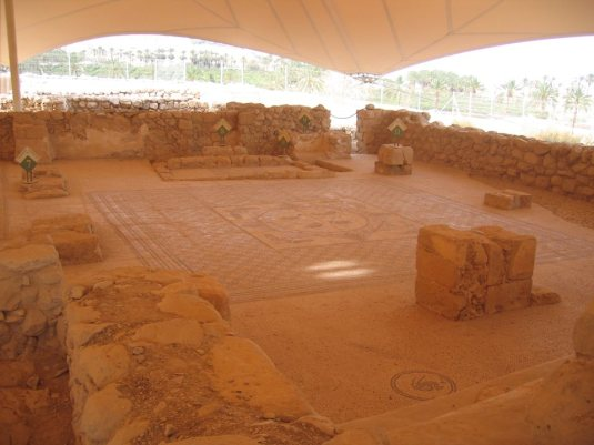 Sinagoga din Ein Gedi unde s-a descoperit pergamentul.