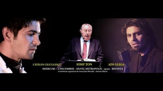 Catalin Ciuculescu,Adi Gliga, Iosif Ton la Bistrita 2 decembrie 2015