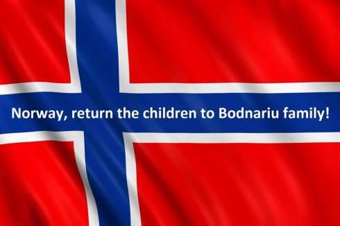 Norway flag Return the children to Bodnariu Family