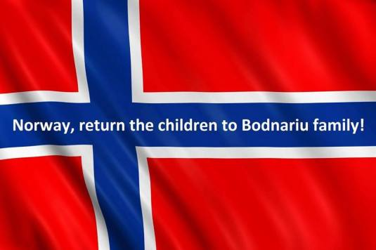 Norway flag Return the children to Bodnariu Family