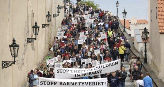 Proteste impotriva Braverney in Praga, Cehia