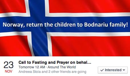 a call to fasting and prayer, familia Bodnariu apel post si rugaciune