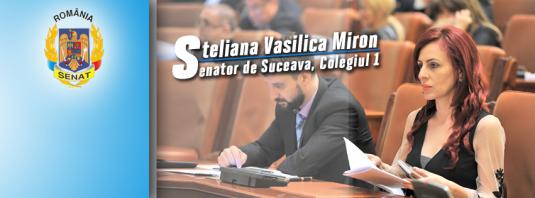 Steliana Vasilica Miron, senatoare
